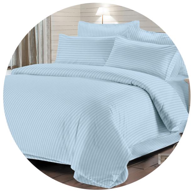 постельное белье из страйп-сатина